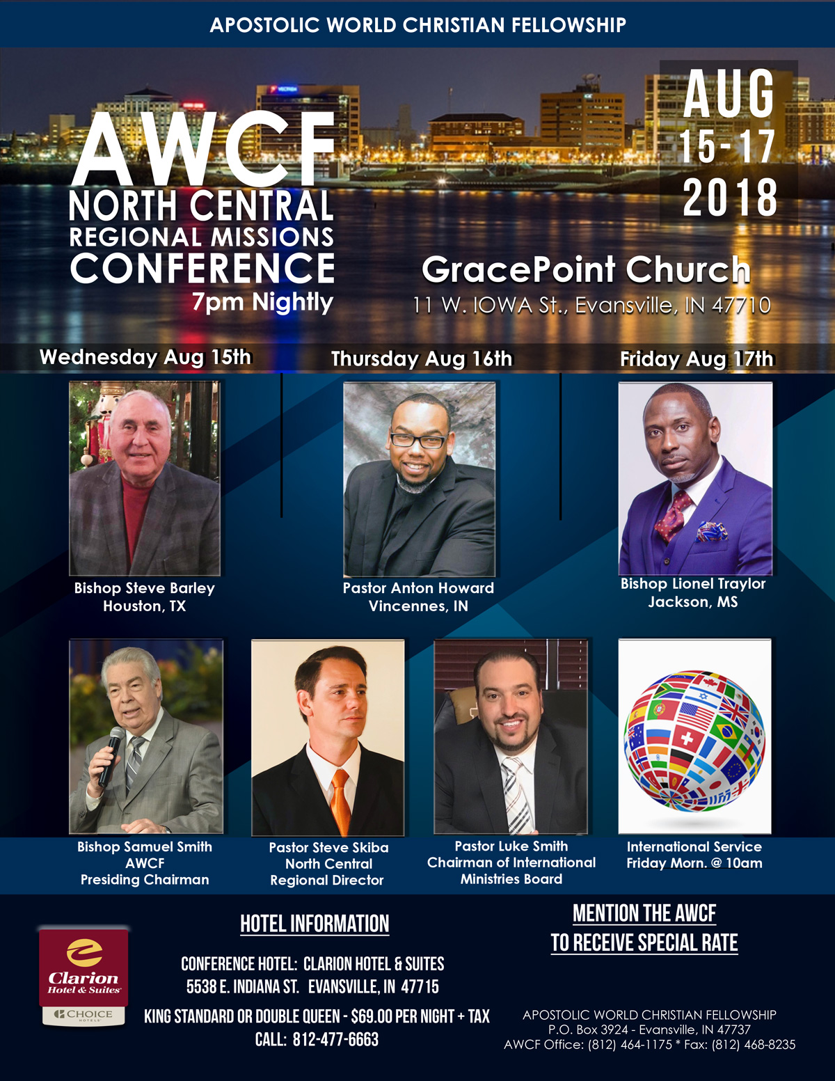 AWCF North Central Missions Conference, August 15-17, 2018